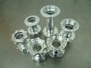 Hope PR 1 Polished machined hubs