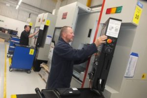 (Pic reference ETG – Bowmill PR 1) These Quaser MV154 VMC's are newly installed in Bowmill's Tewkesbury manufacturing and assembly centre.