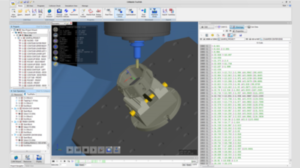 Screenshot from a computer aided manufacturing software